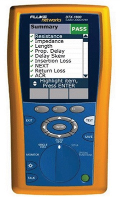 Fluke Dtx1200 Category 6 Cable Certification Tester Rent